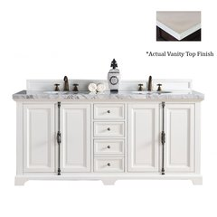 "72"" Providence Vanity w/Galala Beige Top - Cottage White"
