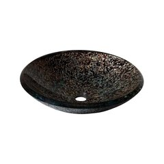 "18"" Diameter Round Vessel Bathroom Sink - Sandy Blue"