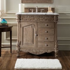 "36"" Monte Carlo Single Vanity w/Carrara White Top-Empire Gra"