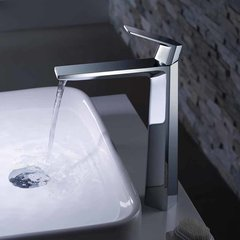 Aplos One Handle Vessel Bathroom Faucet w/ Drain - Chrome