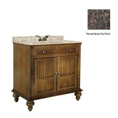 "36"" Barbados Single Sink Vanity w/ Brown Top - Brown Cherry"