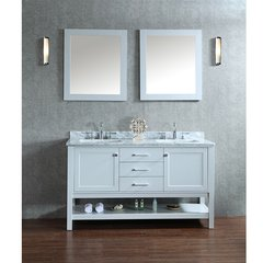 "60"" Seacliff Bayhill Double Sink Bathroom Vanity -Cloud Gray"