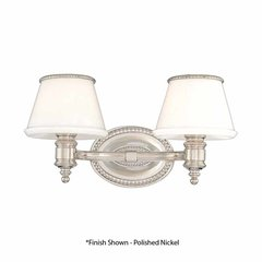 Richmond 2 Light Bathroom Vanity Light - Flemish Brass