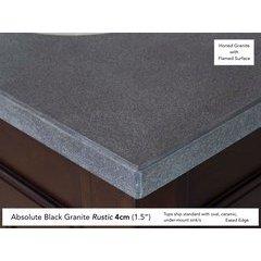 """26"""" Single Bowl Vanity Top Only Black Rustic Granite"""