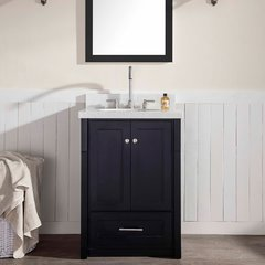 "25"" Adams Single Sink Bathroom Vanity - Black"