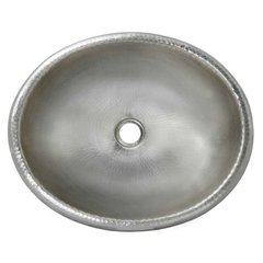 "18-1/2"" x 15-1/2"" Rolled Classic Drop-In Bath Sink - Nickel"