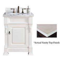"26"" Brookfield Vanity w/ Galala Beige Top - Cottage White"