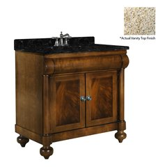 "30"" John Adams Single Sink Vanity w/ Gold Top - Brown Cherry"