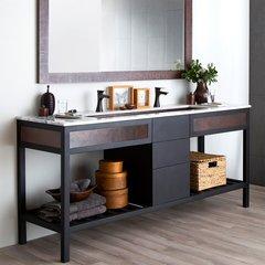 "72"" Cuzco Double Sink Bathroom Vanity Suite - Antique Copper"