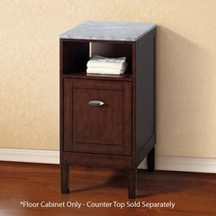 "16"" Floor Cabinet w/o Top - Sable Walnut"