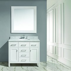 """42"""" London Single Sink Bathroom Vanity - White"""