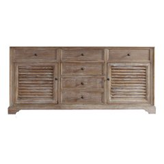 "71"" Savannah Double Cabinet Only w/o Top - Driftwood"