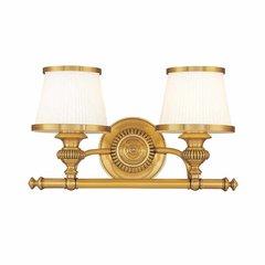 Milton 2 Light Bathroom Vanity Light - Flemish Brass