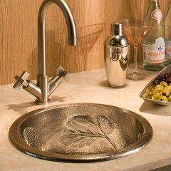 """15"""" Round Pinecones Universal Mount Bar Sink- Brushed Nickel"""