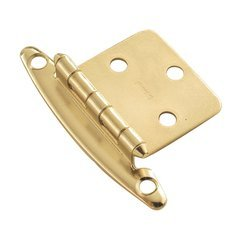 Variable Overlay Hinge Pair Brass Free Swing