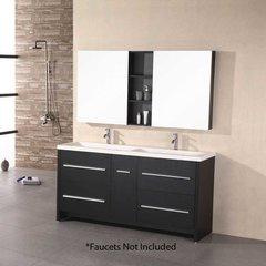 "63"" Perfecta Double Sink Bathroom Vanity - Espresso"