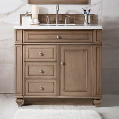 "36"" Bristol Single Cabinet Only w/o Top - White Wash Walnut"