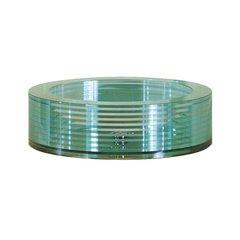 "17-45/64"" Diameter Round Vessel Bathroom Sink - Clear"