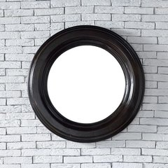 "29"" x 29"" Vancouver Wall Mount Mirror - Cerused Ebony Oak"