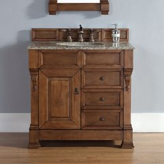 "36"" Brookfield Single Vanity w/ Santa Cecilia Top-Cntry Oak"