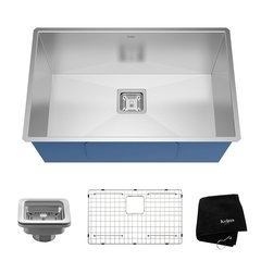 "28"" Undermount Single Bowl Kitchen Sink-Stainless Steel"