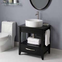 "24"" Ambrosia Single Sink Bathroom Vanity - Black"