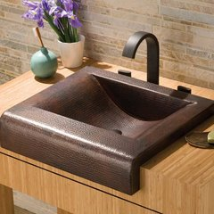 "20"" x 17"" Palisades Drop-In Apron Front Bathroom Sink-Copper"