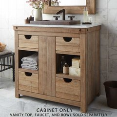 "36"" Chardonnay Single Sink Vanity Only w/o Top - Light Wood"