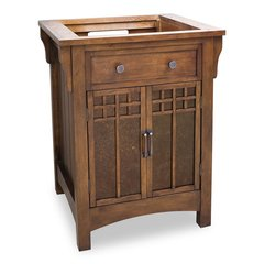"26-5/8"" Lyn Cabinet Only w/o Top - Chestnut"