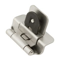 Double Demountable 3/8 inch Inset Hinge Pair Satin Nickel