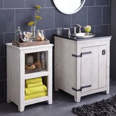 "24"" Americana Single Sink Bathroom Vanity Suite - Whitewash"