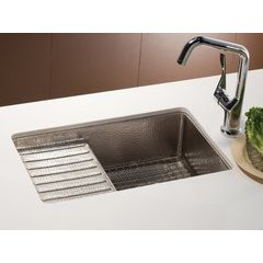 "22"" x 13"" Cantina Pro Undermount Bar Sink w/Prep Deck-Nickel"