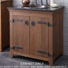 "30"" Americana Single Vanity Cabinet Only w/o Top - Chestnut"