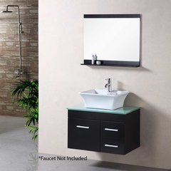 "30"" Portland Single Vessel Sink Bathroom Vanity - Espresso"