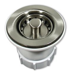 "2"" Round Jr. Strainer - Brushed Nickel"