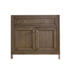 "36"" Chicago Single Cabinet Only w/o Top -White Washed Walnut"