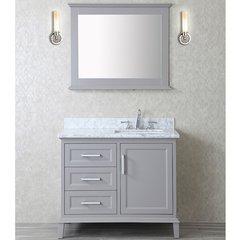 "42"" Seacliff Nantucket Single Sink Vanity - Taupe Gray"