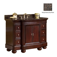 "48"" Mount Vernon Single Sink Vanity w/ Brown Top - Merlot"