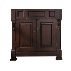 """35"""" Brookfield Cabinet Only w/o Top - Burnished Mahogany"""