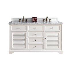 "60"" Savannah Double Vanity w/Cararra White Top-Cottage White"