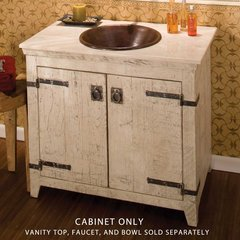 "36"" Americana Single Vanity Cabinet Only w/o Top - Whitewash"