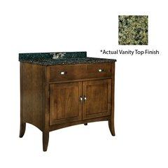 """36"""" Metro Single Sink Vanity w/ Green Top - Brown Cherry"""