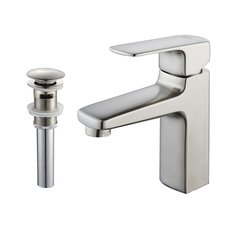 Virtus Single Hole Bathroom Faucet - Brushed Nickel