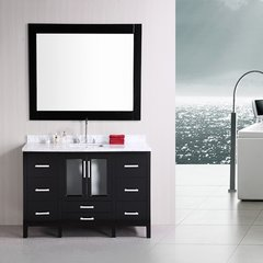 "60"" Stanton Sink Single Bathroom Vanity w/ Mirror - Espresso"