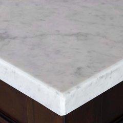 "60"" Single Bowl Vanity Top Only - Carrara White Stone"