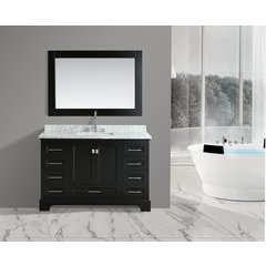 "54"" Omega Single Sink Bathroom Vanity Set-Espresso"