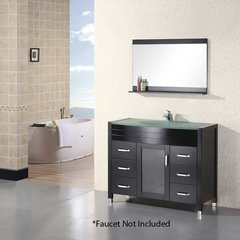"48"" Waterfall Single Sink Bathroom Vanity - Espresso"