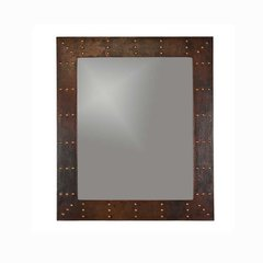 "36""x31"" Rectangle Copper Wall Mount Mirror-Oil Rubbed Bronze"