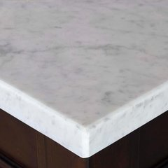 "36"" Single Bowl Vanity Top Only - Carrara White Stone"