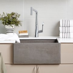 "24"" x 18"" Farmhouse Reversible Kitchen Sink - Ash"